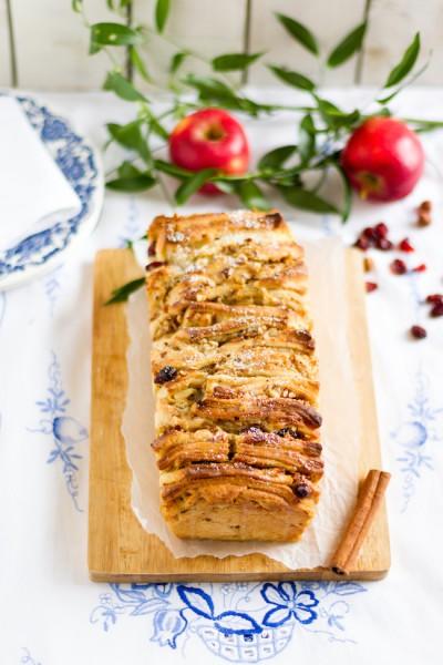 haseimglueck.de Rezept, Pull-Apart-Bread-Äpfel-Cranberries 3