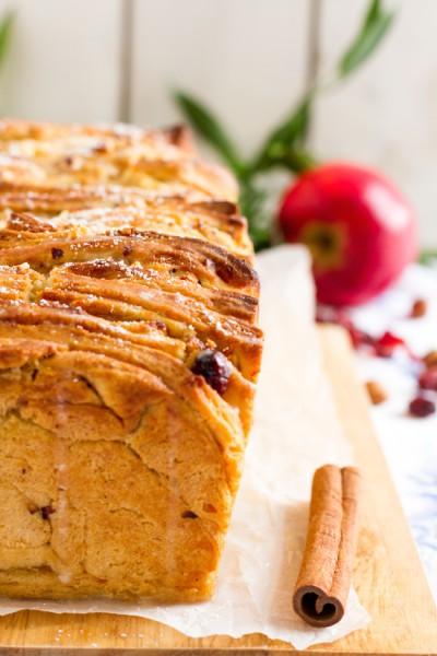 haseimglueck.de Rezept, Pull-Apart-Bread-Äpfel-Cranberries 5