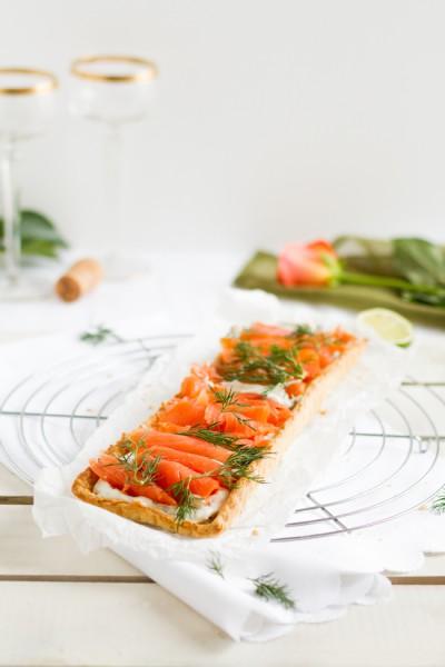 haseimglueck.de Rezept, Lachs-Tarte mit Frischkäse & Meerrettich 1