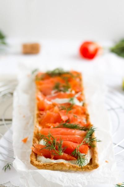 haseimglueck.de Rezept, Lachs-Tarte mit Frischkäse & Meerrettich 4