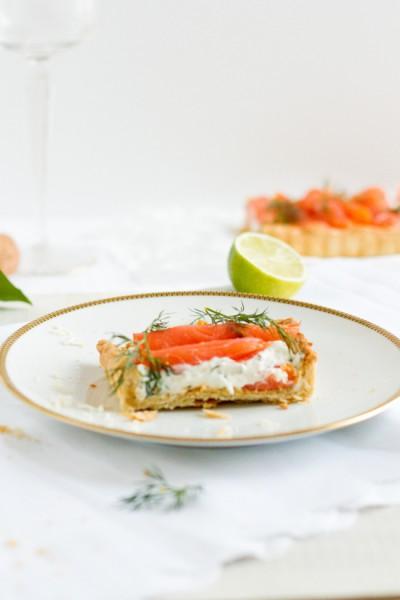 haseimglueck.de Rezept, Lachs-Tarte mit Frischkäse & Meerrettich 5