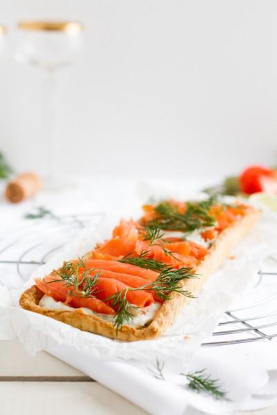 haseimglueck.de Rezept, Lachs-Tarte mit Frischkäse & Meerrettich 7