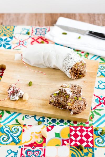 haseimglueck.de Rezept, Schokoladen-Salami 5