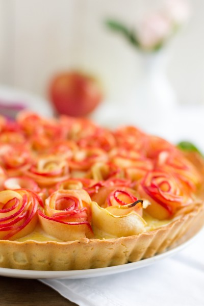 haseimglueck.de Rezept, Apfelrosen Kuchen 2