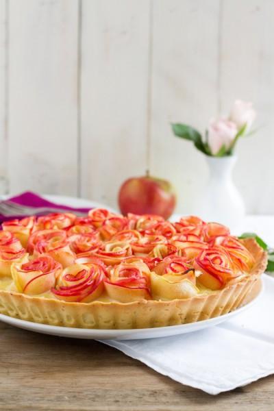 haseimglueck.de Rezept, Apfelrosen Kuchen 3