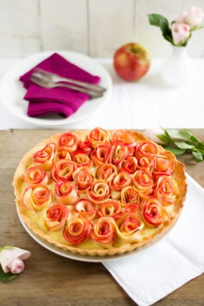 haseimglueck.de Rezept, Apfelrosen Kuchen 4
