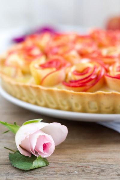 haseimglueck.de Rezept, Apfelrosen Kuchen 5