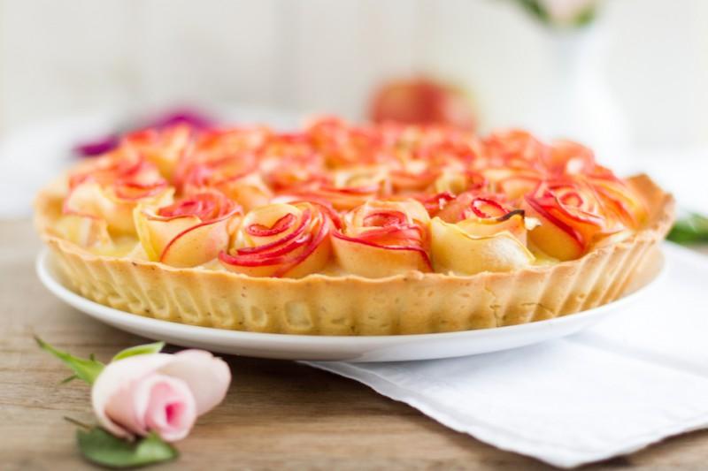 haseimglueck.de Rezept, Apfelrosen Kuchen 6