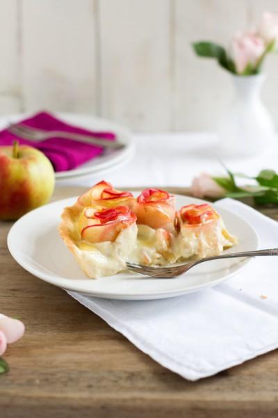 haseimglueck.de Rezept, Apfelrosen Kuchen 7
