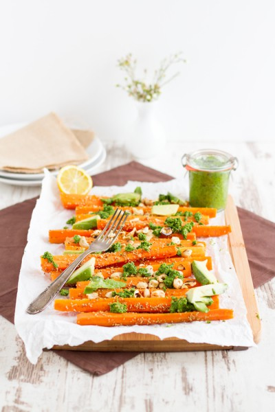 haseimglueck.de Rezept, Koriander Pesto mit Sesam Karotten 2