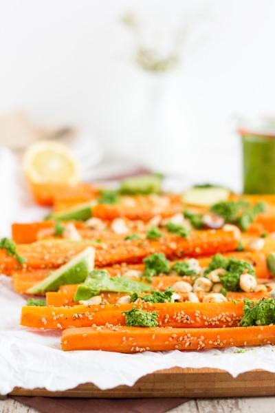 haseimglueck.de Rezept, Koriander Pesto mit Sesam Karotten 5
