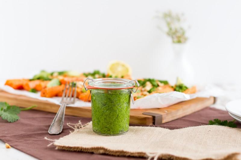 haseimglueck.de Rezept, Koriander Pesto mit Sesam Karotten 6