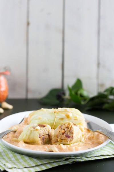 haseimglueck.de Rezept, Spitzkohlröllchen mit Linsen & Cashew 4