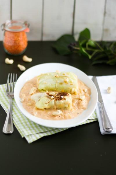 haseimglueck.de Rezept, Spitzkohlröllchen mit Linsen & Cashew 8