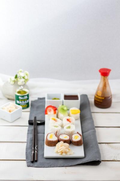 haseimglueck.de Rezept, Süße Sushi Platte 6