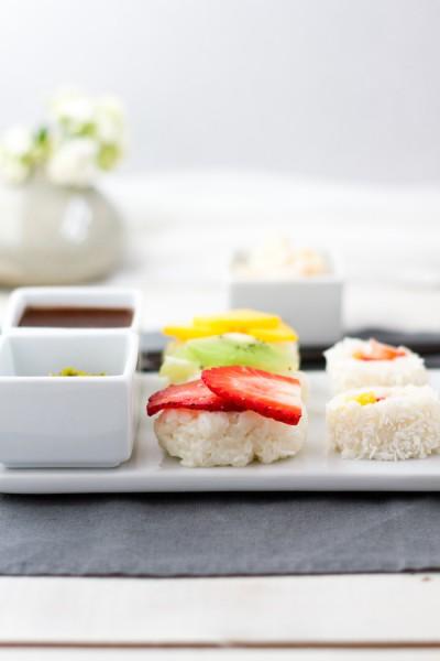 haseimglueck.de Rezept, Süße Sushi Platte 8