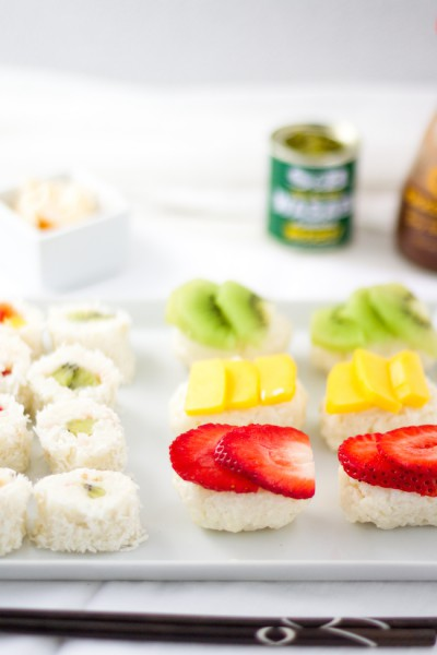 haseimglueck.de Rezept, Süße Sushi Platte 2