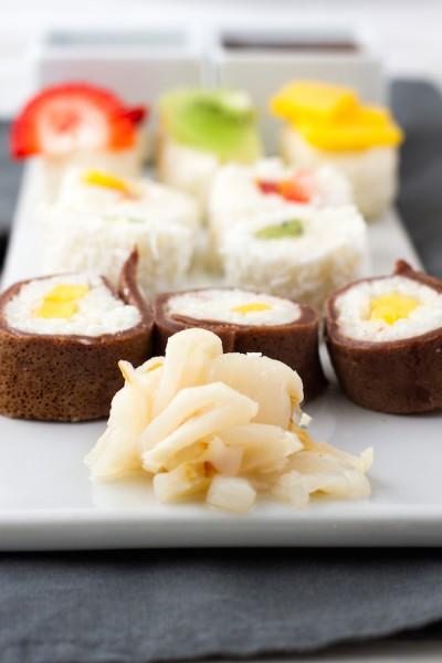 haseimglueck.de Rezept, Süße Sushi Platte 7