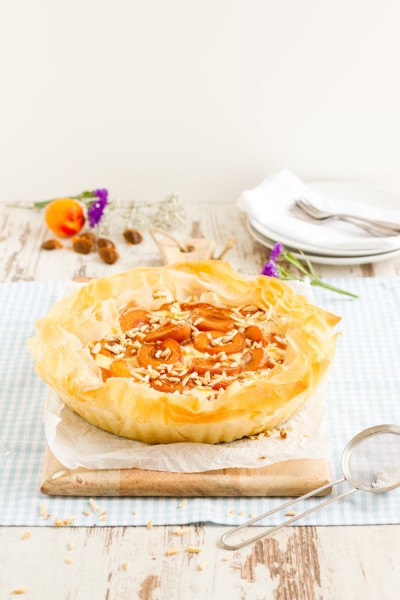 haseimglueck.de Rezept, Aprikosen Käsekuchen Filoteig 2