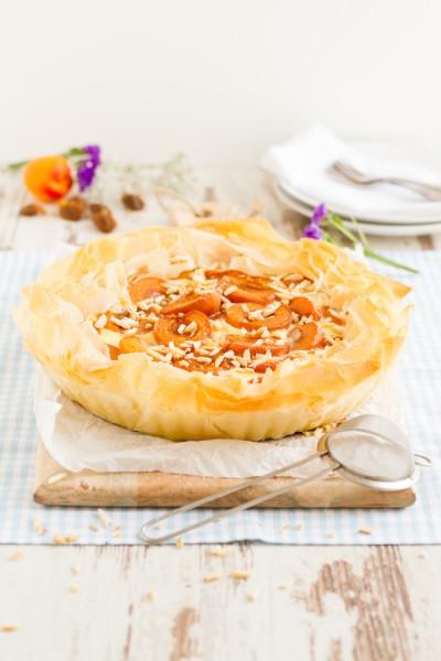 haseimglueck.de Rezept, Aprikosen Käsekuchen Filoteig 7