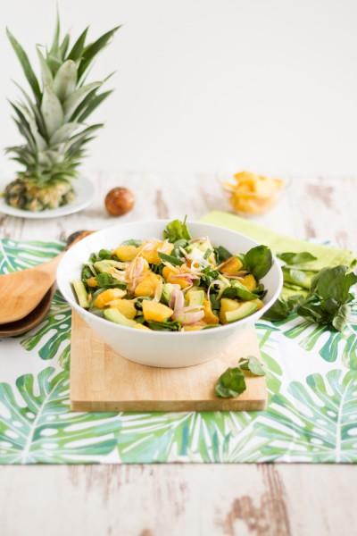 haseimglueck.de Rezept, Brunnenkresse Salat+Ananas & Avocado 1