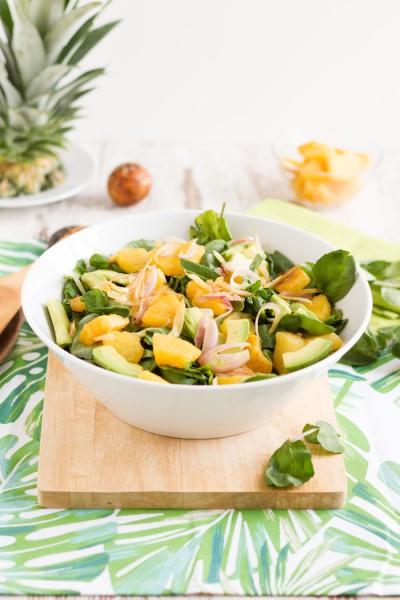 haseimglueck.de Rezept, Brunnenkresse Salat+Ananas & Avocado 2