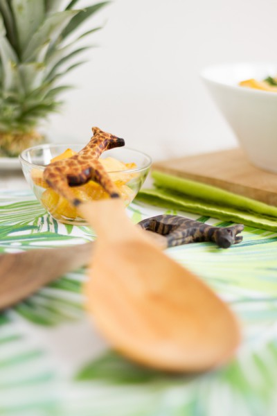 haseimglueck.de Rezept, Brunnenkresse Salat+Ananas & Avocado 3