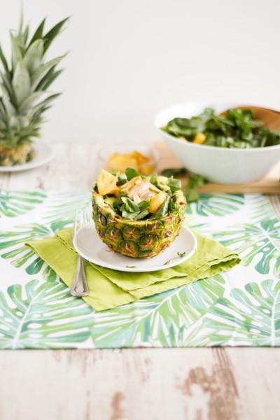 haseimglueck.de Rezept, Brunnenkresse Salat+Ananas & Avocado 6