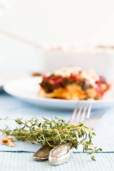 haseimglueck.de Rezept, Spinat Tomaten Feta Lasagne 6