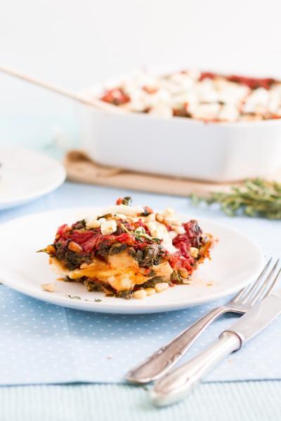 haseimglueck.de Rezept, Spinat Tomaten Feta Lasagne 9