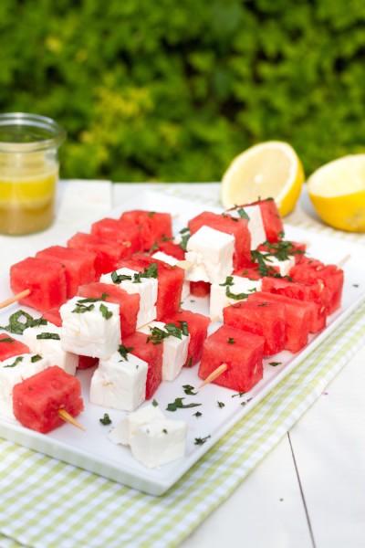 Melonen Feta Spieße Rezept 1