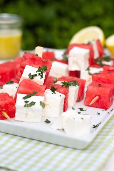 Melonen Feta Spieße Rezept 2