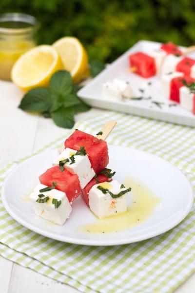 Melonen Feta Spieße Rezept 6