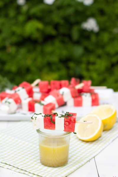 Melonen Feta Spieße Rezept 7