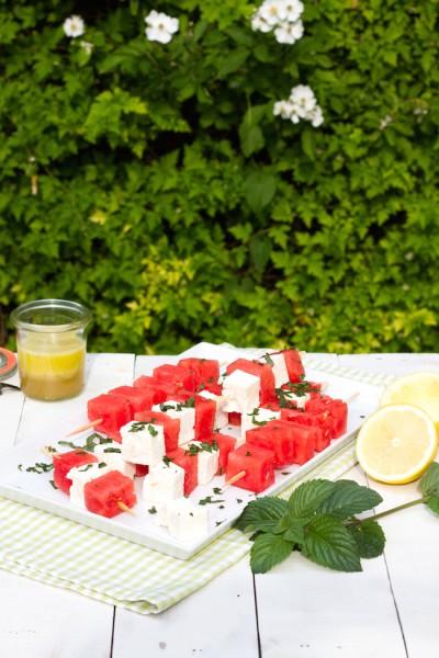 Melonen Feta Spieße Rezept 8