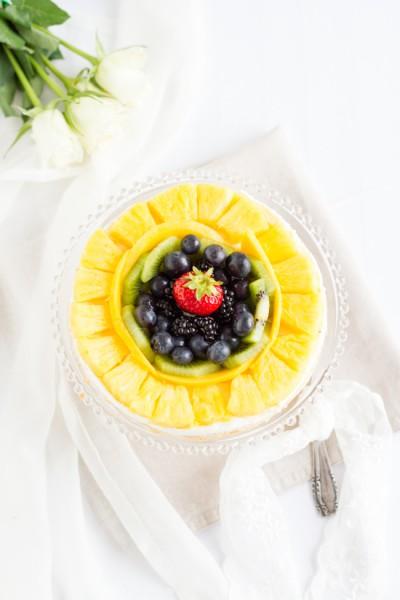 haseimglueck.de Rezept, Biskuit Obstkuchen mit Zitronen Creme 4