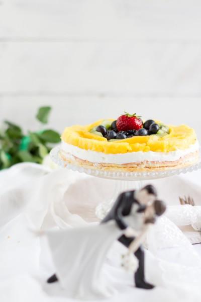 haseimglueck.de Rezept, Biskuit Obstkuchen mit Zitronen Creme 5