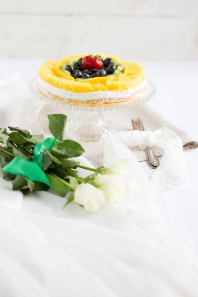 haseimglueck.de Rezept, Biskuit Obstkuchen mit Zitronen Creme 7