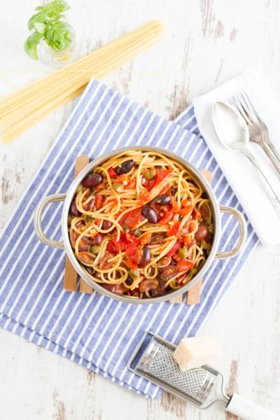 haseimglueck.de Rezept, One Pot Pasta alla Puttanesca 11