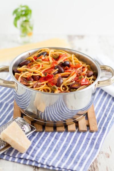 haseimglueck.de Rezept, One Pot Pasta alla Puttanesca 2