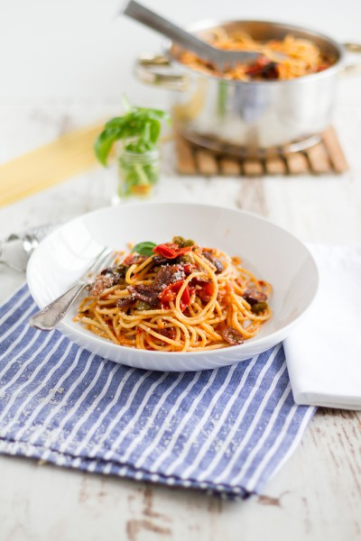haseimglueck.de Rezept, One Pot Pasta alla Puttanesca 3