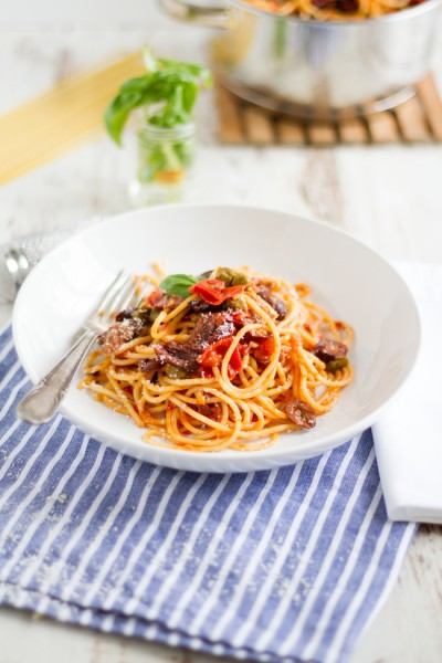 haseimglueck.de Rezept, One Pot Pasta alla Puttanesca 7