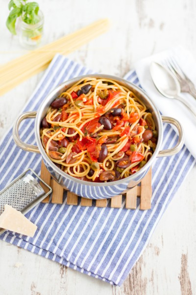 haseimglueck.de Rezept, One Pot Pasta alla Puttanesca 8