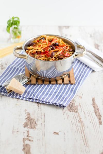 haseimglueck.de Rezept, One Pot Pasta alla Puttanesca 9