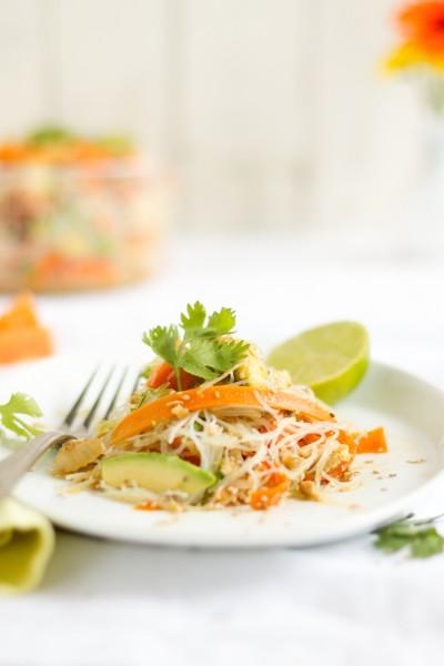haseimglueck.de Rezept, Glasnudeln Papaya Salat 4