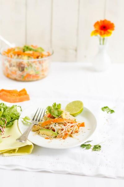 haseimglueck.de Rezept, Glasnudeln Papaya Salat 6