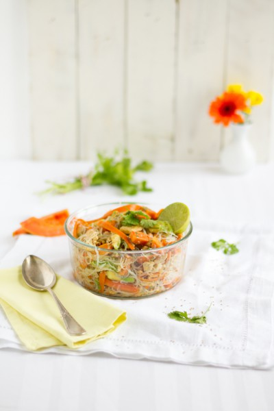 haseimglueck.de Rezept, Glasnudeln Papaya Salat 9
