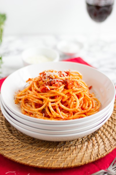 haseimglueck.de Rezept, Bucatini all' Amatriciana 11
