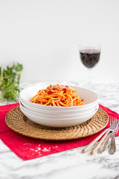 haseimglueck.de Rezept, Bucatini all' Amatriciana 1