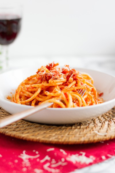 haseimglueck.de Rezept, Bucatini all' Amatriciana 5